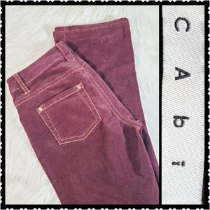 Cabi Super Soft size 2 dark purple velvet pants